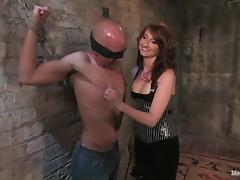 Beautiful Redhead Kendra James Dominates Guy and Strapon Fucks Him