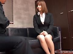 Suzu Tsubaki the office girl gets pounded by her colleague