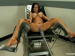 Vibrator, Big Tits, Boobs, Brunette, Masturbation, Silicone