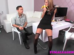 FemaleAgent: Asian casting fucks female agent amazingly well