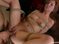 Maddy O'Reilly enjoys being tortured and fucked in BDSM scene