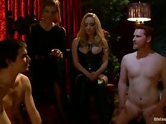 Extreme Bondage and Femdom with Pegging and Spanking with Two Dominantrices