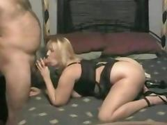 Chubby blonde amateur wife makes a homemade sex tape
