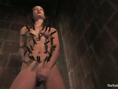 No emotions on Amber Rayne's face despite the pain