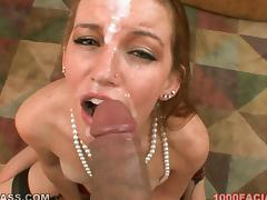 Milf in jewelry is going to give an insane blowjob