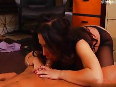 Big tits amateur ballslicking