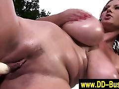 Busty huge titted toying lesbians