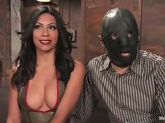 Femdom FFM Threesome with Pegging and Spanking for Masked Dude porn video