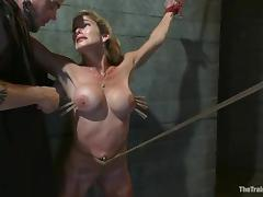 Felony gets multiple orgasms while being tortured in a cellar porn video
