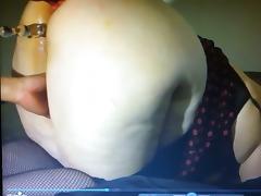 Bbw wife taking ice cube in ass!