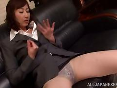 Filthy Japanese boss wants her employee's cock
