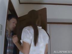 Sensual porn video with an angelic Japanese siren