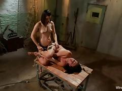 Hot Ashli Ames gets whipped and toyed by Bobbi Starr porn video