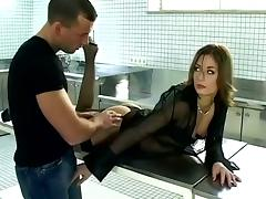 Desk, Blowjob, Cum in Mouth, Cumshot, Desk, Doggystyle