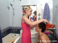Bath, Banging, Bath, Bathing, Bathroom, Blonde
