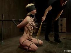 Blindfolded, BDSM, Blindfolded, Blowjob, Spanking, Mask
