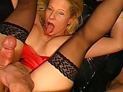 Fake-tit blonde Melanie really love sperm