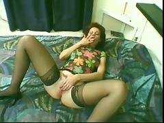 Older milf rubbing her pussy
