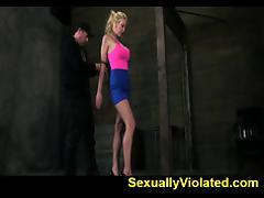 Bound, BDSM, Blonde, Bondage, Bound, Deepthroat