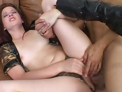 Ashley Haze was drilled by hardcorer Rick Masters