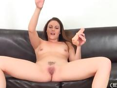 Samantha Ryan sucks dildo and fucks her pussy porn video