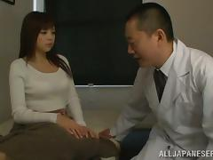 Doctor is going to cure Rina Itou's tight Asian pussy porn video