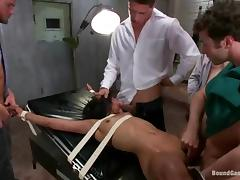 Exotic sex slaves is getting fucked by several masters