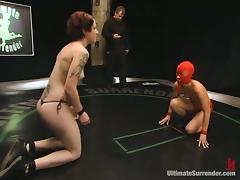 Crimson Ninja and Nina have lesbian fun instead of beating each other