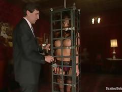 Amazing Mia Lelani gets toyed and fucked in bondage video