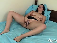 Excited Brunette Jane Fingering Her Pussy