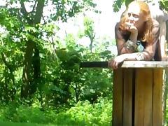 redhead having it away outdoor