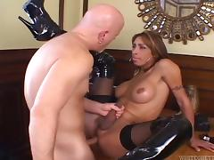 Busty crystal set Celeste Glamour gets her aggravation pounded more varied positions