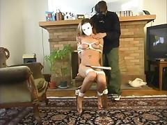 Horny Rose-red gets confined there with an increment of dominated hard by a mendicant with reference to a mask
