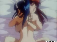 Hentai shemale fingering plus fucking porn video