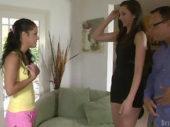 Cute Babysitter Gets Anent Than She Bargained For in Trilogy