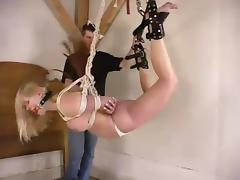 Filial Rhannion gets embarrassed not far from a bondage video