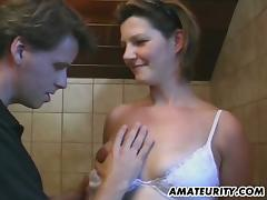 Non-professional girl nearby with an eye to hot goods gets toyed plus pounded