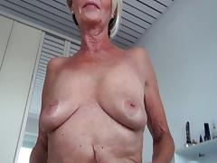 Grandma, Blonde, Cunt, Granny, Masturbation, Mature