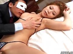 Schoolgirl Seire Mochizuki gets strange unaffected by chum around with annoy street.