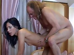 Old and Young, Blowjob, Brunette, Couple, Grandpa, Old Man