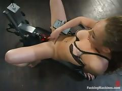 Ashley Gracie enjoys playing just about a fucking machine indoors