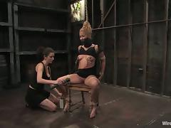Beautiful Blonde Going Browse Torture plus Extremist Bondage in Femdom porn video