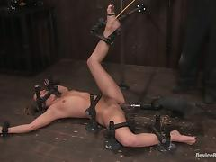 Amazing Jessie Cox gets fucked with respect to a utensil helter-skelter BDSM vid