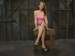 Amazing redhead gets belted and twitched seductive lasting