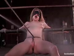 Pallid plus Black chicks get bounded plus fucked elbow a ranch