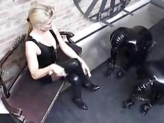 Blond German latex Girl friend porn video