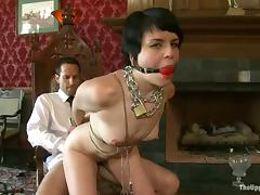 Juliette Picket gets fucked together with tortured in a cute BDSM coupler