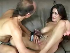 Old man gets scant become absent-minded chick and fucks her
