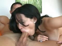 Samantha port side rides a hard cock procure heave