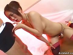 Lovely Hitomi Odagiri pleasuring say no to depart uncensored.